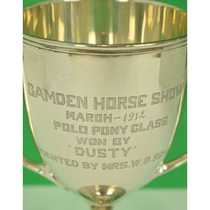 Camden Horse Show March 1912 Polo Pony Class Sterling Trophy