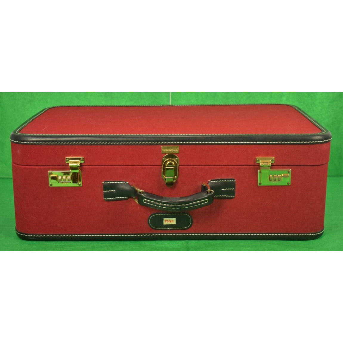T Anthony Vintage Suitcase w/ TWA Label