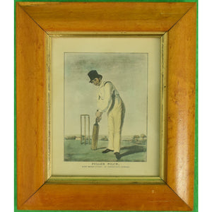 Fuller Pilch Cricket Player Hand-Colour Litho