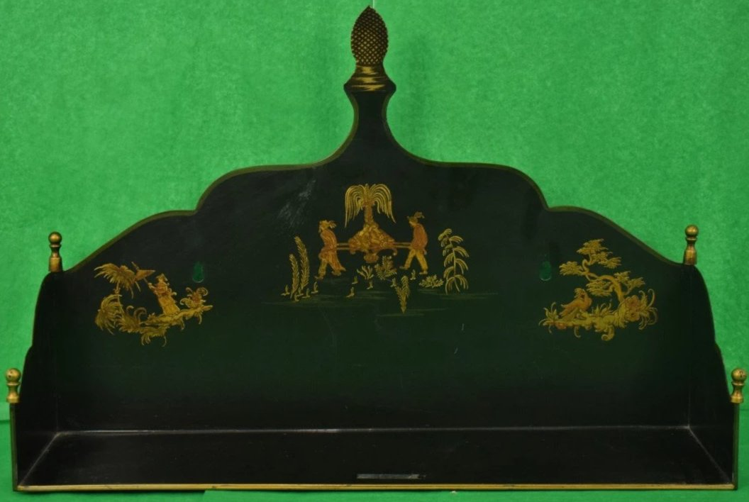 Bergdorf Goodman Chinoiserie Ebony Pagoda Shelf