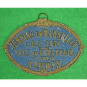 Jumping de Marseille Oval Plaque