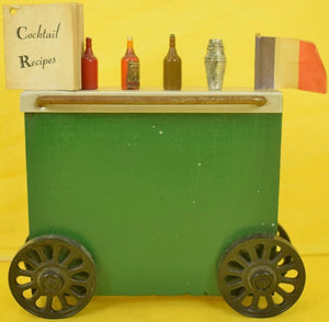 Wonder Bar Cart w/ 16 Cocktail Recipes Booklet & 5 Pick/Spears