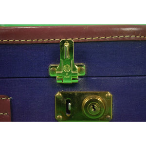 T Anthony Purple Canvas Suitcase