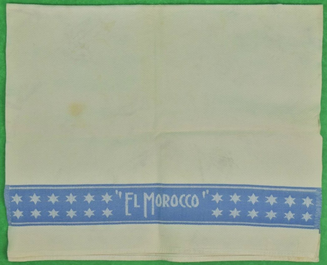 El Morocco Club Waiter's Towel