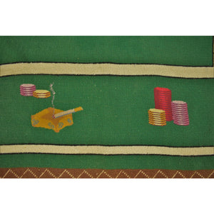 Needlepoint Bridge Table Cover