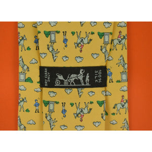 Hermes of Paris Jockey Statue Tie