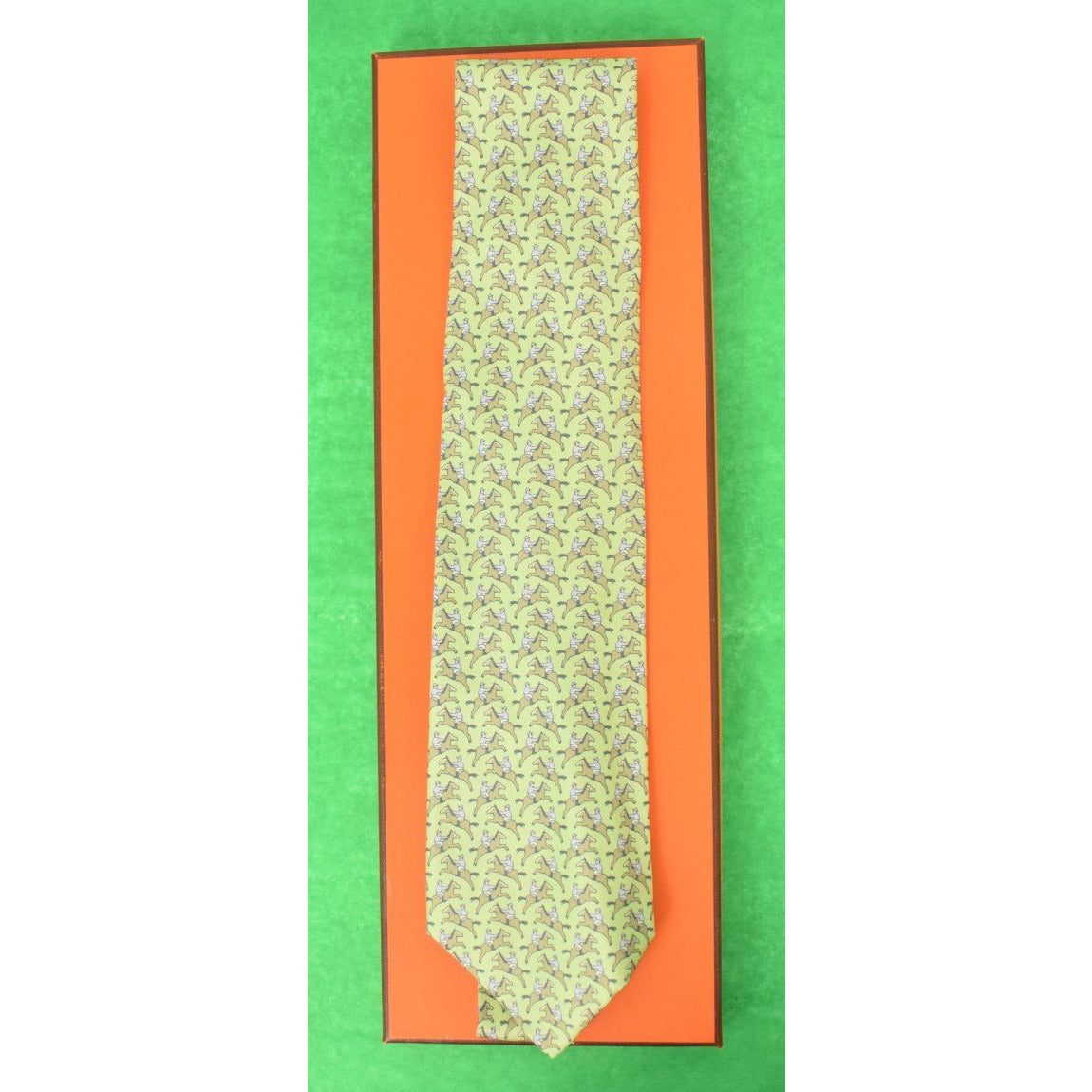 Hermes of Paris Jockey Twill Tie New w/ Tag!