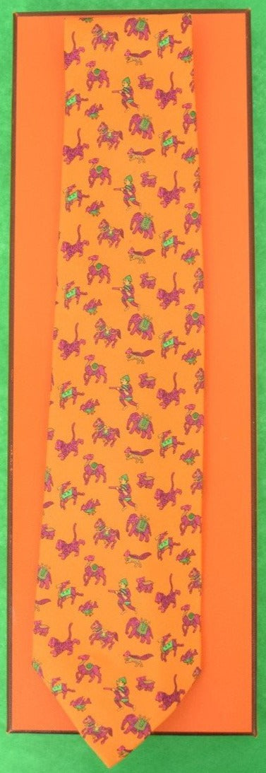 Hermes of Paris Huntsman Safari Tie New w/ Tag!
