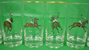Set of 6 Polo Player Highball Glasses
