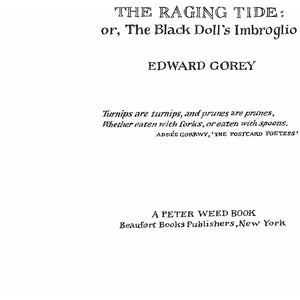 The Raging Tide: or, The Black Doll's Imbroglio