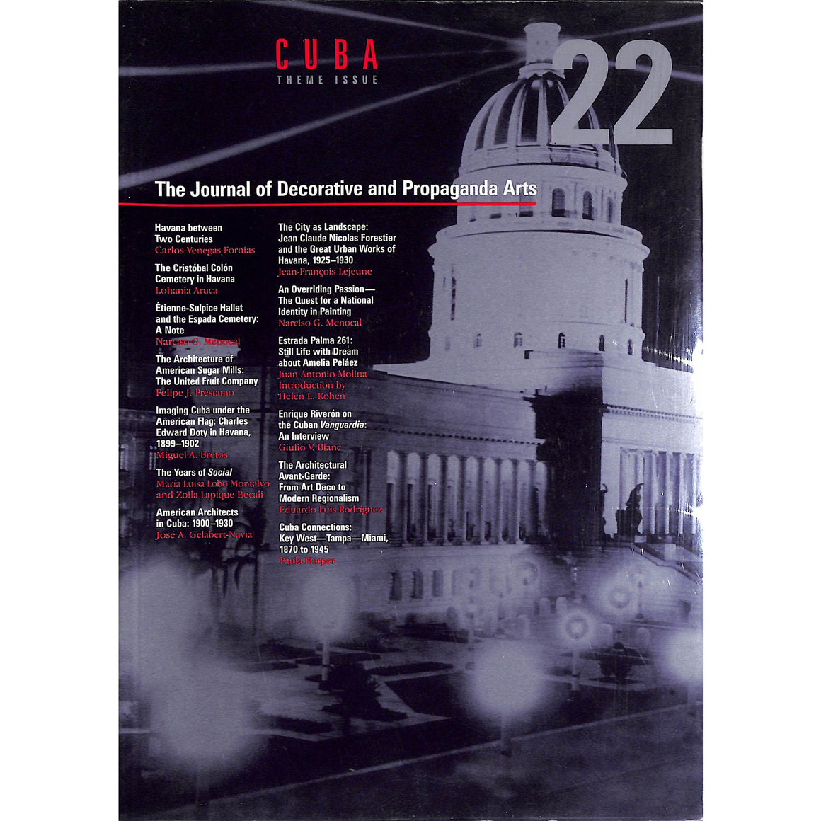 The Journal of Decorative and Propaganda Arts Cuba Theme Issue #22