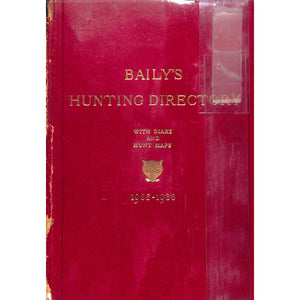 Baily's Hunting Directory 1935-1936 with Diary and Hunt Maps