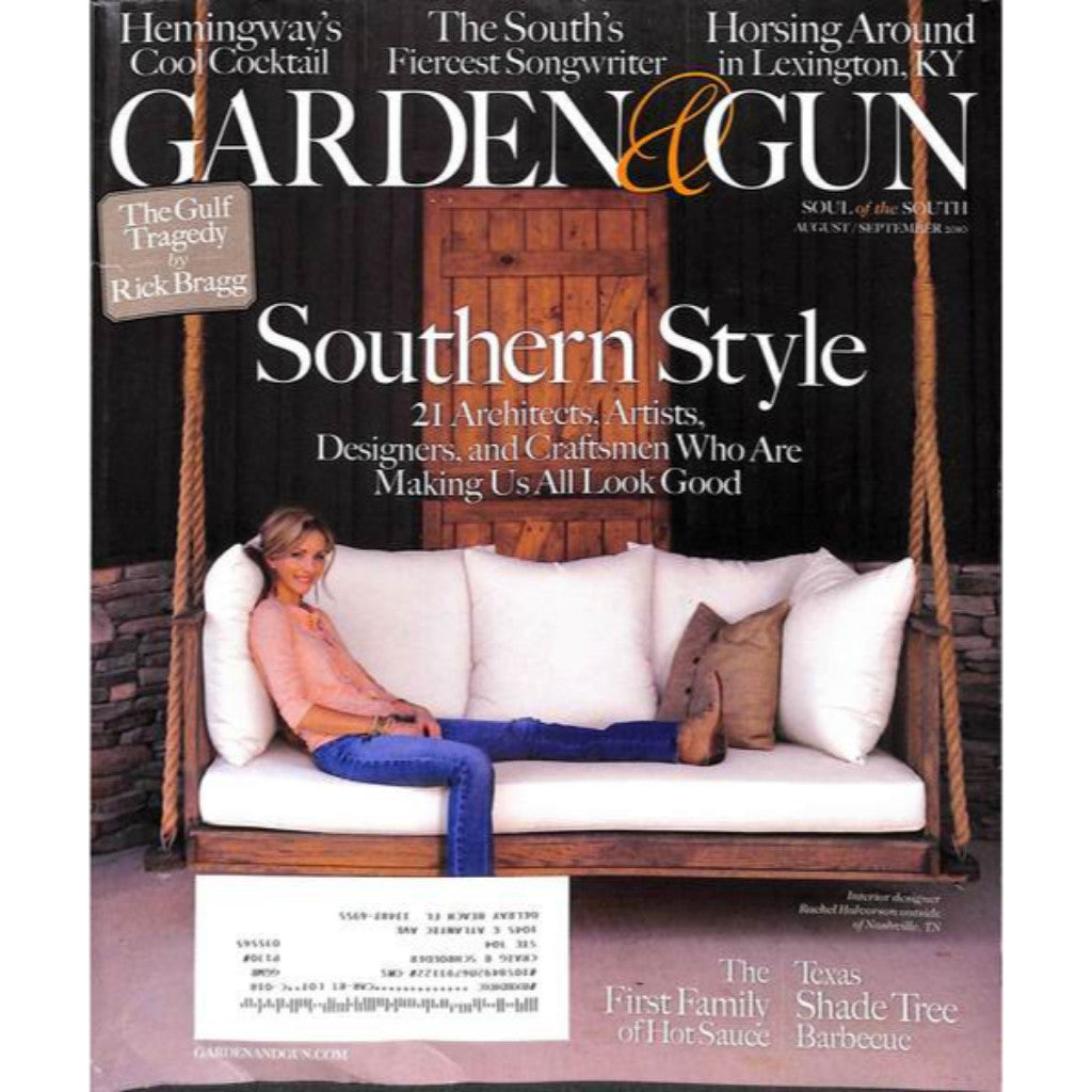'Garden & Gun Magazine: Southern Style August/ September 2010'