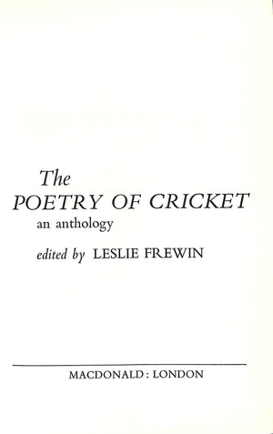 'The Poetry of Cricket'