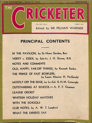 'The Cricketer - June 7, 1941'