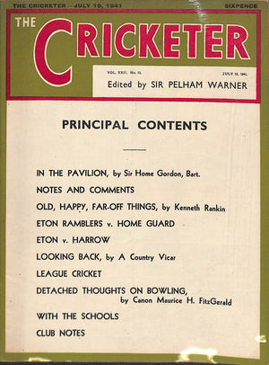 'The Cricketer - July 19, 1941'
