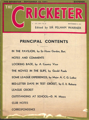 'The Cricketer - September 13, 1941'
