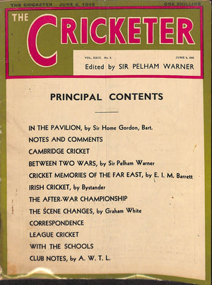 'The Cricketer - June 6, 1942'