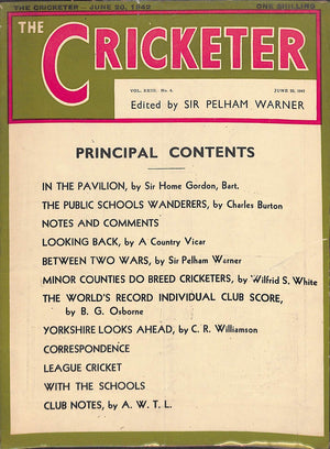 'The Cricketer - June 20, 1942'
