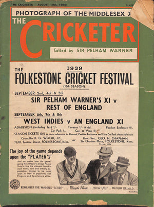 'The Cricketer - August 12, 1939'