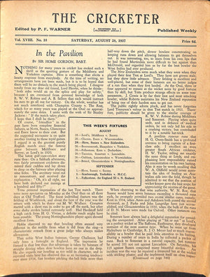 'The Cricketer - August 28, 1937'