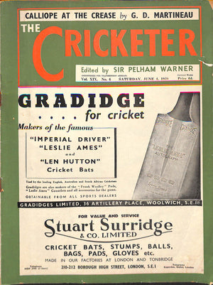 'The Cricketer - June 4, 1938'