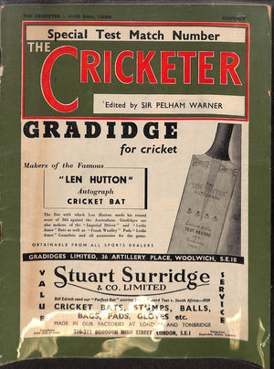 'The Cricketer - June 24th, 1939'