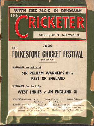 'The Cricketer - August 5th, 1939'