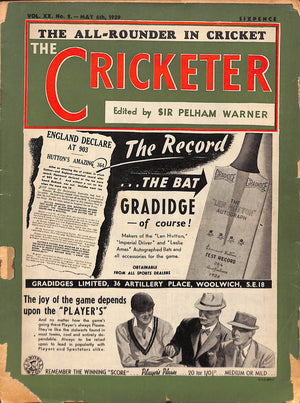 'The Cricketer - May 6th, 1939'