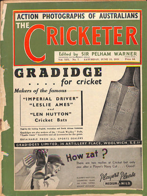 'The Cricketer - June 11, 1938'