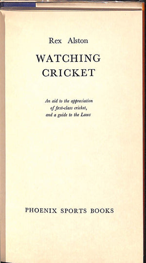 'Watching Cricket'