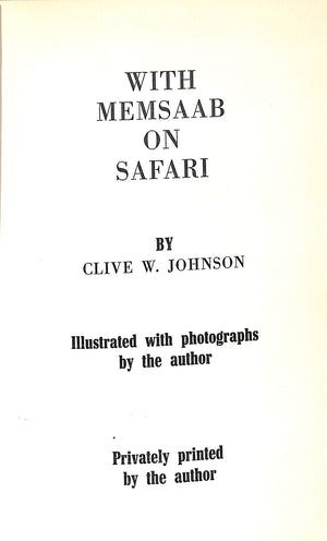 'With Memsaab on Safari'