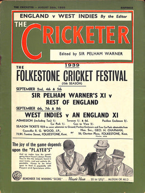 The Cricketer: August 26th, 1939