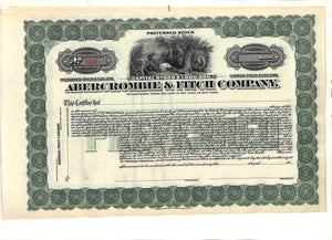 Abercrombie & Fitch Stock Certificates