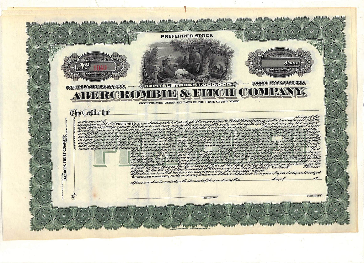 Abercrombie & Fitch Preferred Stock Certificate