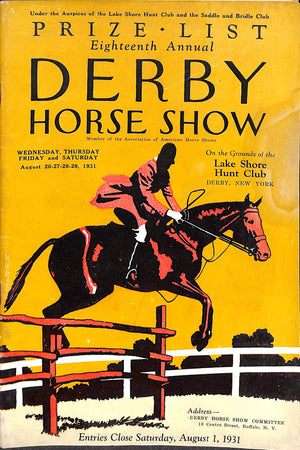 """Eighteenth Annual Derby Horse Show"""