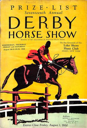 'Seventh Annual Derby Horse Show'