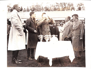 Polo Trophy Presentation B&W Photo 1933