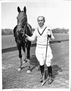 Seymour H. Knox Capt Aurora Polo Team 1935 B&W Photo