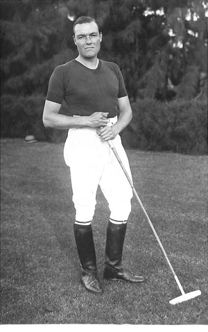 Laddie Sanford, Polo Player in Palm Beach, Florida 1932 B&W Photo