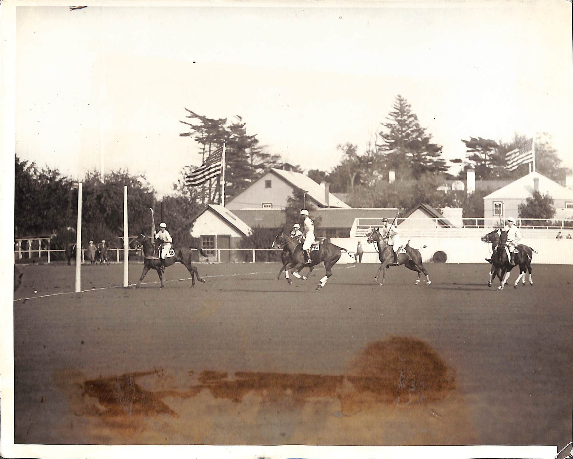 Argentina Defeats US in The Second Intl Polo Matches at Meadowbrook 1928 B&W Photo