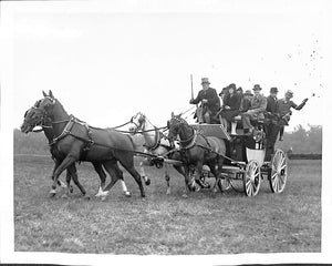 """F. Ambrose Clark Arriving at Meadow Brook Hunt Cup"" 1939 B&W Photo"
