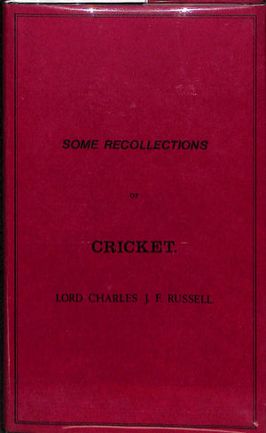 Some Recollections of Cricket