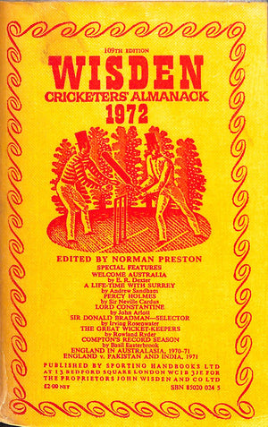 Wisden Cricketers' Almanack 109th Edition