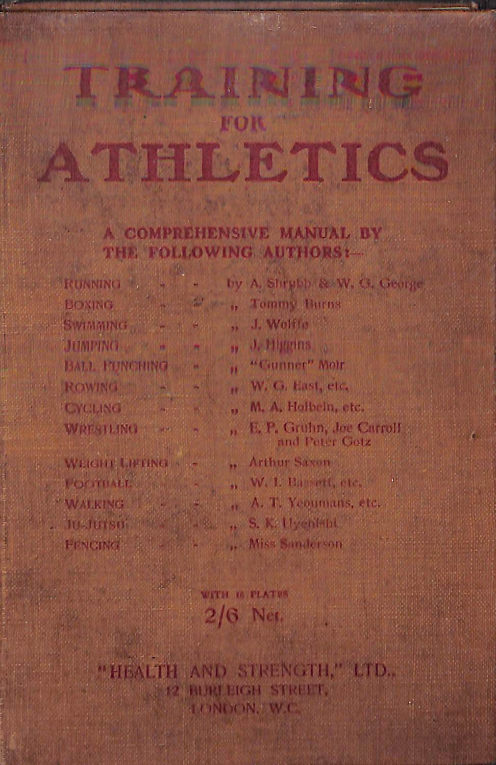 """Training for Athletics: A Comprehensive Manual Dealing with All Branches of Sport"" (Sold!)"