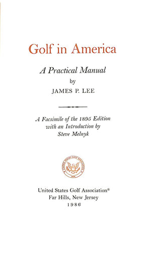 Golf: A Practical Manual w/ Slipcase
