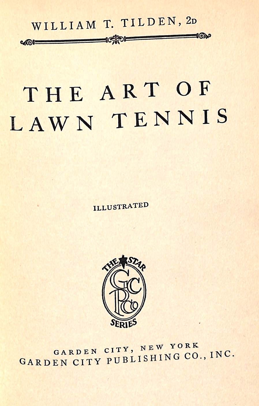 """The Art of Lawn Tennis"" 1921"