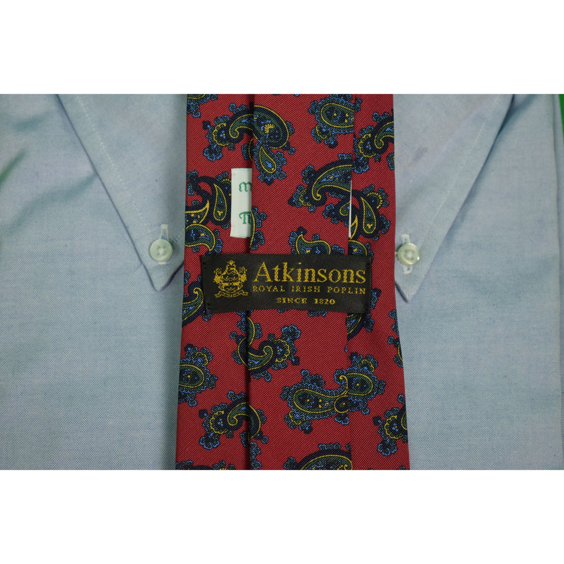 Atkinsons Royal Irish Poplin for The Andover Shop Burg Paisley Tie