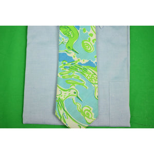 "Lilly Pulitzer for Chipp Blue/ Green ""Seagull"" Cotton Tie"