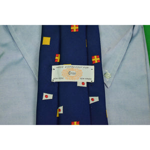 "Chipp ""Permission Requested to Lay Alongside"" Navy Terelene Twill Tie"